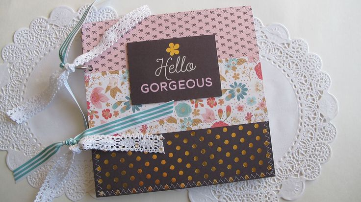 Instax guest book, Hello Gorgeous scrapbook mini album, You Are The One - Instax guest book album by BurkeSevenVintage on Etsy https://www.etsy.com/ca/listing/522823503/instax-guest-book-hello-gorgeous