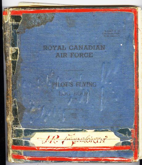 RCAF Pilot's logbook belonging to Jim Ashworth, who flew a Hurricane over occupied Burma. In March 2014, he was still living in Invermere, B.C.