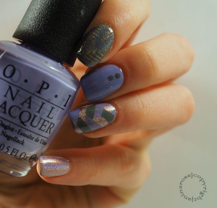 fishtail skittlette nail art