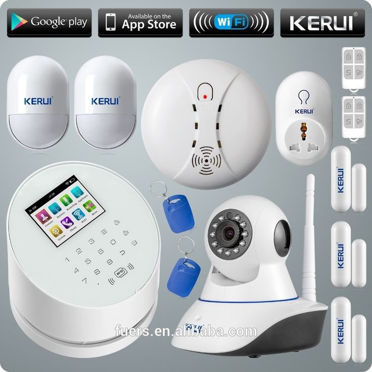 2016 KERUI WIFI+GSM+PSTN network W2 wireless intelligent personal wifi home alarm system