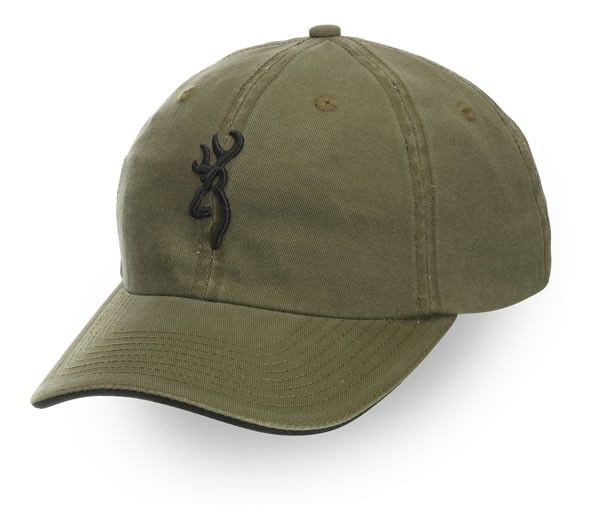 Browning Buckmark Cap, Olive/Black, Semi-Fitted: Buckmark Cap, with  Sandwich Brim, Olive/Black