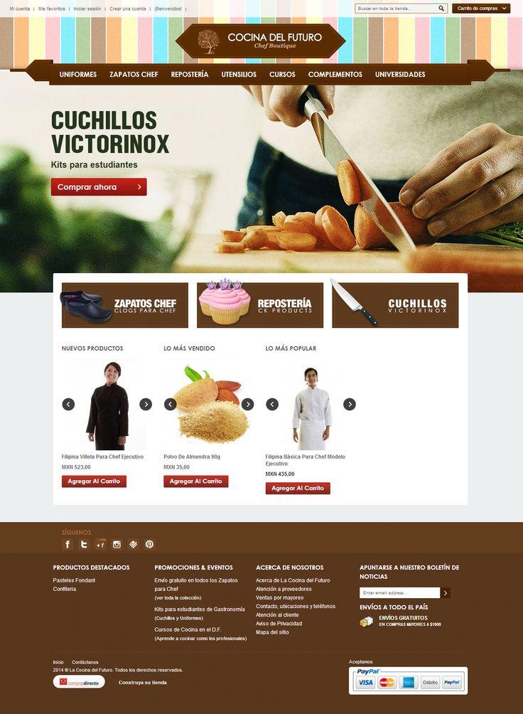 Diseño web de Tiendas Online en México.  www.cocinadelfuturo.com