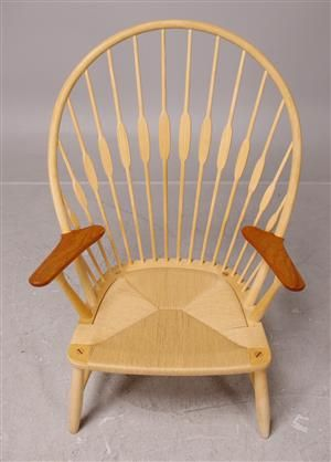 Køb stole - danske klassikere, antikke, moderne - Hans Wegner, fåtölj, 'Påfuglestolen / Peacock chair - SE, Stockholm, Slakthusgatan