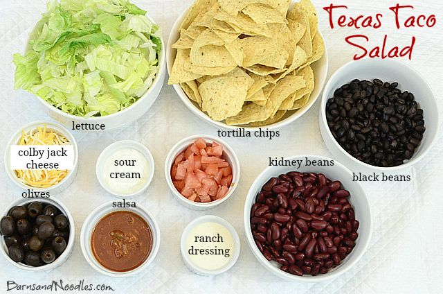 Texas Taco Salad is a family favorite!  It's fast, flavorful, and fresh!  And the other perk...everyone gets to design their own!