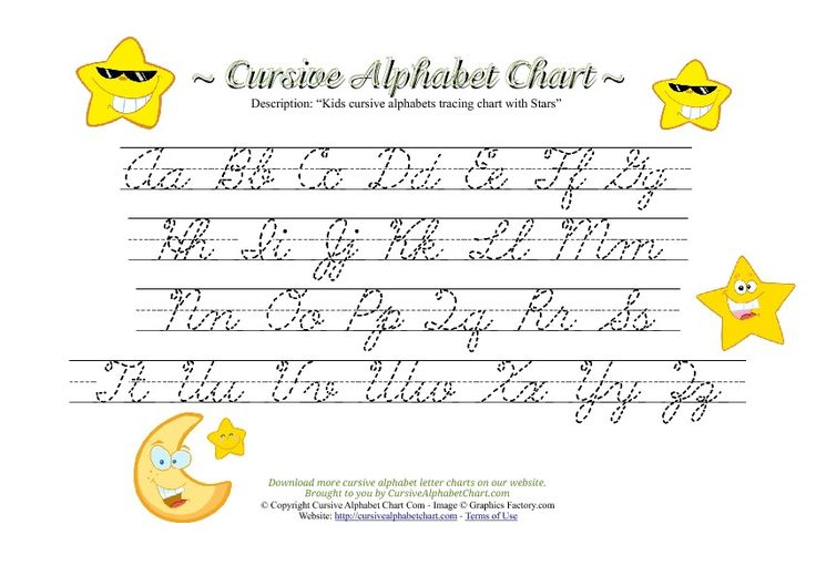 cursive handwriting alphabet chart