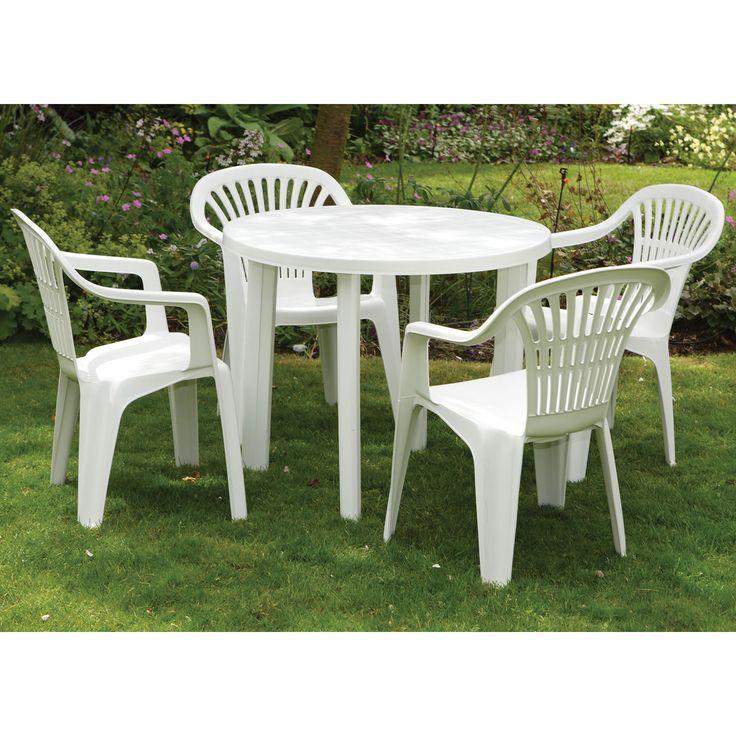 Chairs Plastic Patio Furniture, Round Plastic Patio Table