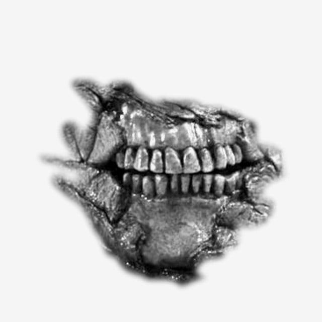 Gambar Berus Tangan Kartun Berwarna Hitam Keganasan Raksasa Mulut Png Dan Psd Untuk Muat Turun Percuma Tooth Clipart Cartoon Clip Art Ink Brush