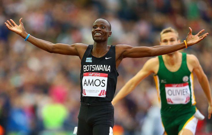Nijel Amos of Botswana
