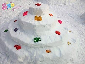 Лепим снежные фигуры