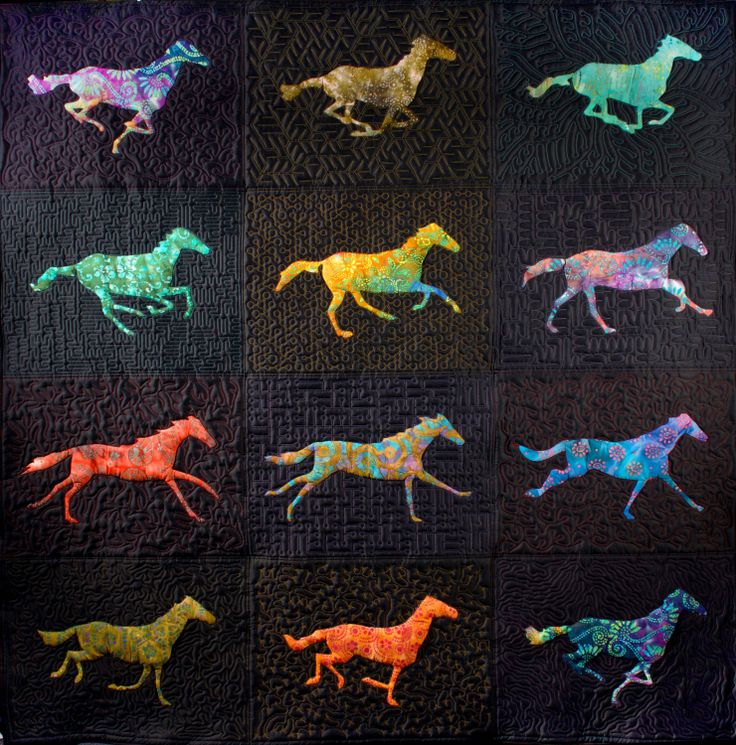 Animator Nina Paley designed a quilt inspired by 19th-century English photographer Eadweard Muybridge.