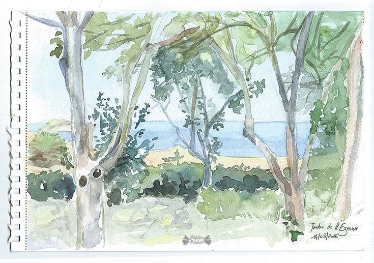 Travel Diary Watercolors Of The Summer Voyage Aquarelle