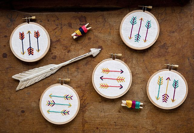 arrow embroidery kits by miniature rhino