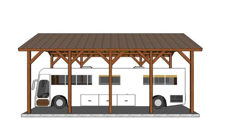 20x40 rv carport plans etsy in 2020 carport plans rv