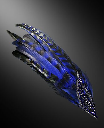 Zdenka Arko Cobalt Blue Crystal Hairpiece HA11003-35 - Rhinestone Jewelry | Dancesport Fashion @ DanceShopper.com