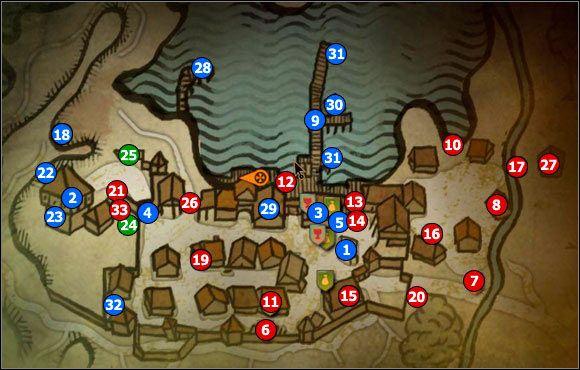 1 - M7 Flotsam City; M8 Flotsam - Maps - The Witcher 2: Assassins of Kings Game Guide