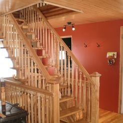 Escalier de merisier & frêne huilé