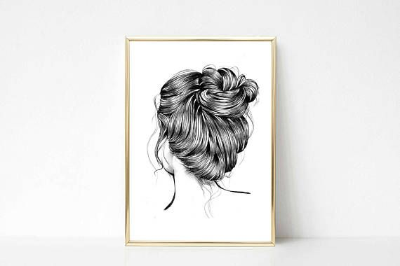 Check out this item in my Etsy shop https://www.etsy.com/listing/538325115/beautiful-loose-hair-illustration