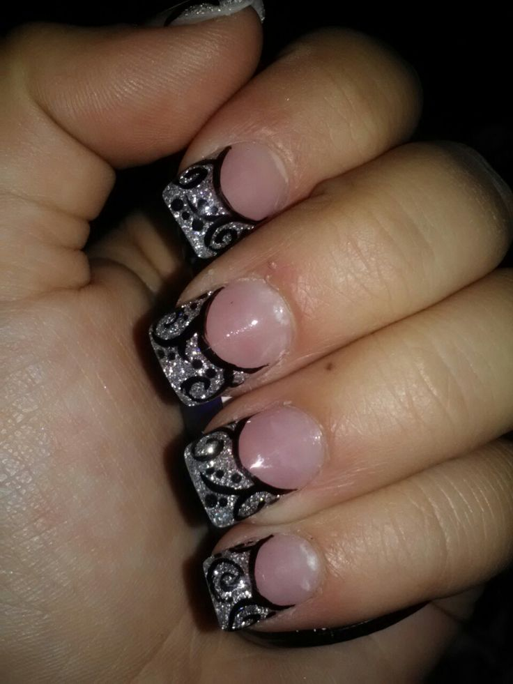 Acrylic nail design! So cute. I know this could be done with gels too!