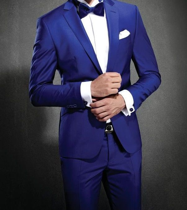 (MTM) Royal Blue Notch Lapel Tuxedo