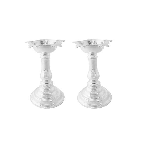 Jpearls Set of 2 Silver Diyas in 60 Grams | Pure Silver Articles | Silver Accessories