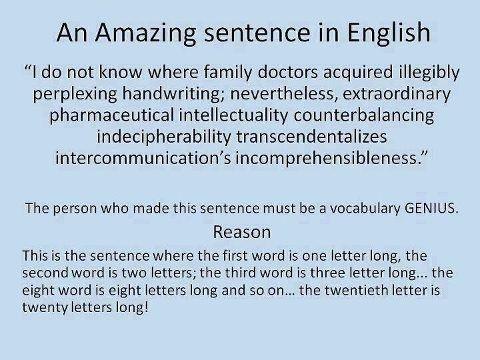 how to speak long sentences in english