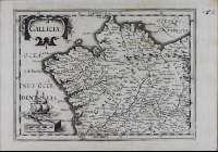 GALLICIA.  Mapa do reino de Galicia pola versión de Mercator-Hondius hacia 1630.