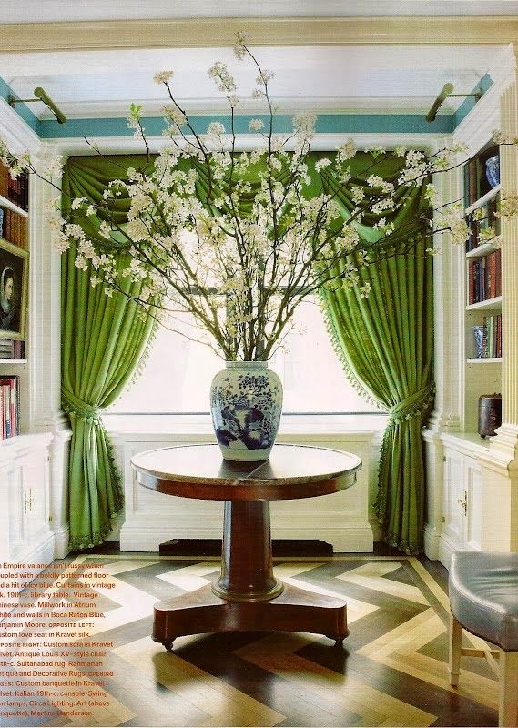 Kelly Green Curtains With Light Gray Grasscloth Walls: 48 Best Blue Walls + Gray Floors Images On Pinterest