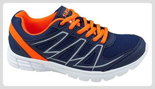 GIBRA® Damen Sportschuhe, sehr leicht und bequem, dunkelblau/orange, Gr. 36 - Sneakers für frauen (*Partner-Link)
