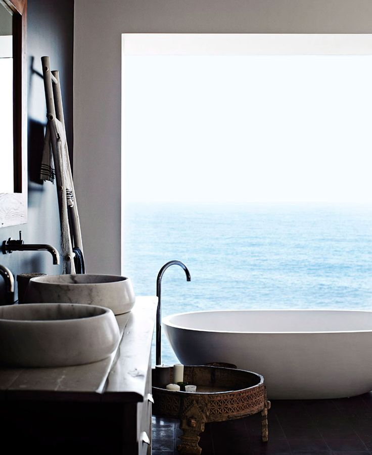 oracle, fox, sunday, sanctuary, bath, tub, ocean, view, interiors, minimal, interior