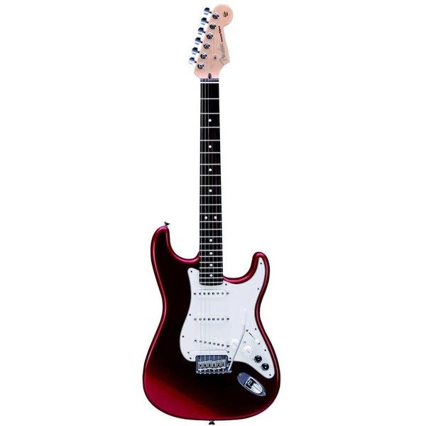 Fender Roland G5A Candy Red Strat Guitar (€2.370) ❤ liked on Polyvore featuring instruments, music, guitar, fillers and extras