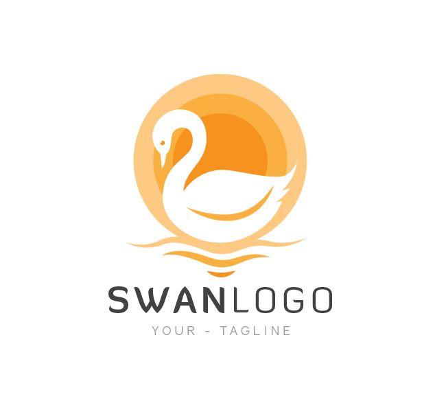 Pre-made #Swan #LogoDesign