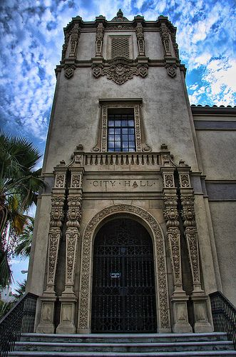 The old city hall located in downtown Riverside, California.