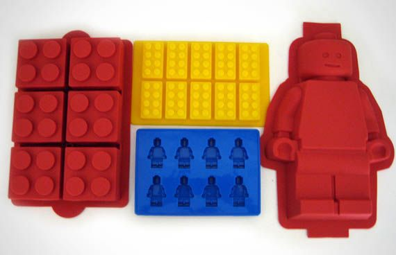 or better yet this set of lego cake pans