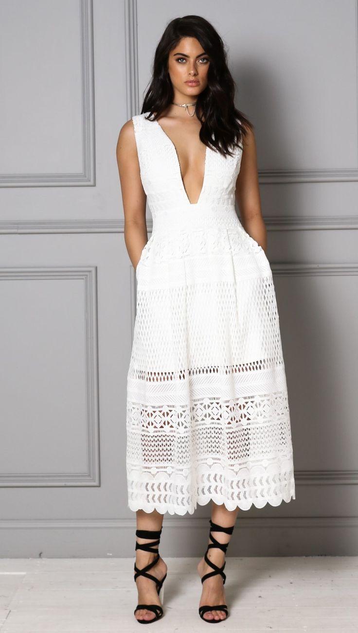 Madison Square - Dahlia Dress - White - Sabaya