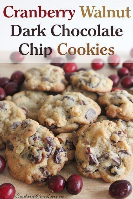 Cranberry Walnut Dark Chocolate Chip Cookie Recipe