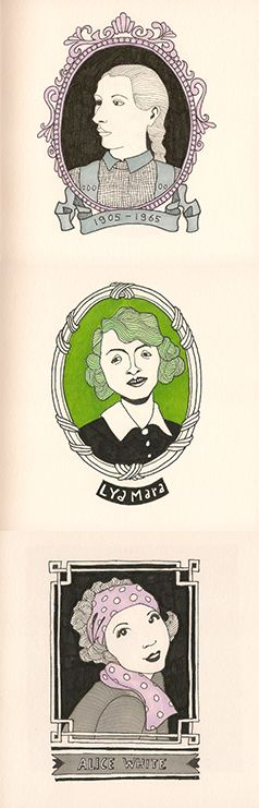 3 Illustraties uit Dummy 16. By Hilda Groenesteyn / studio Hille