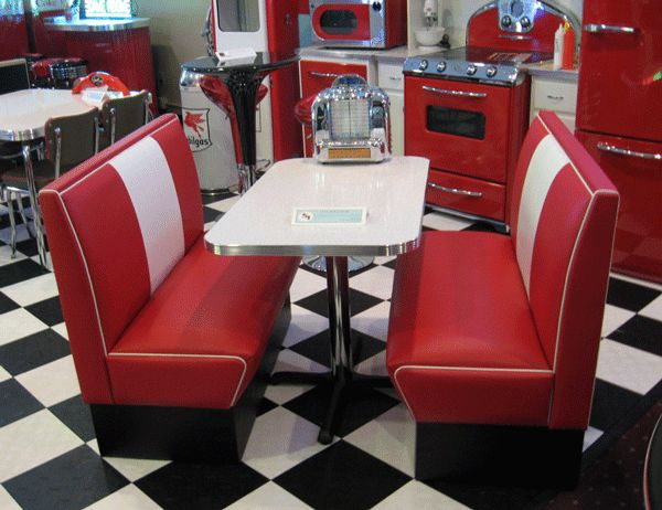 The cruiser diner booth set is one of our custom designed diner booths. These are perfect for any restaurant, diner, kitchen, or game room.