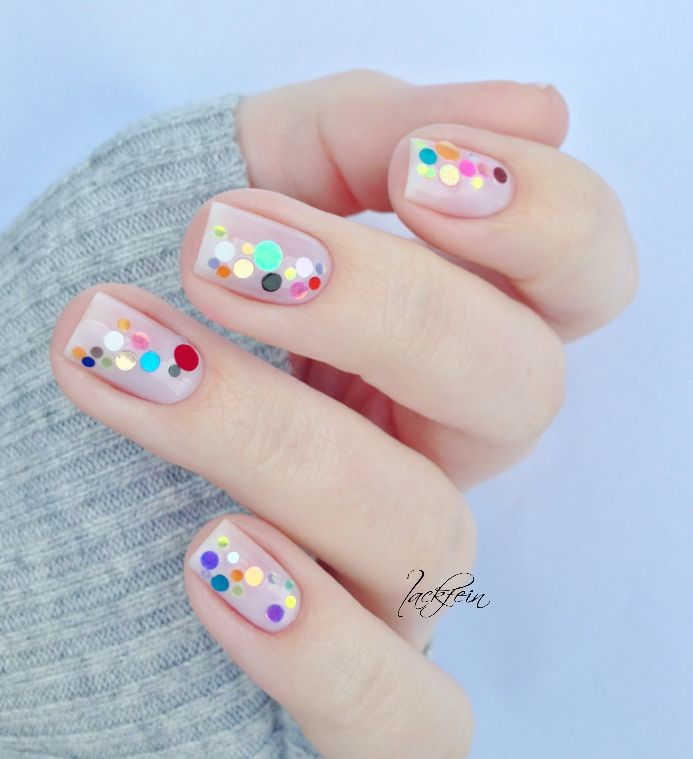This dotted nail art is delightful for spring - manicure - nails - inspiration