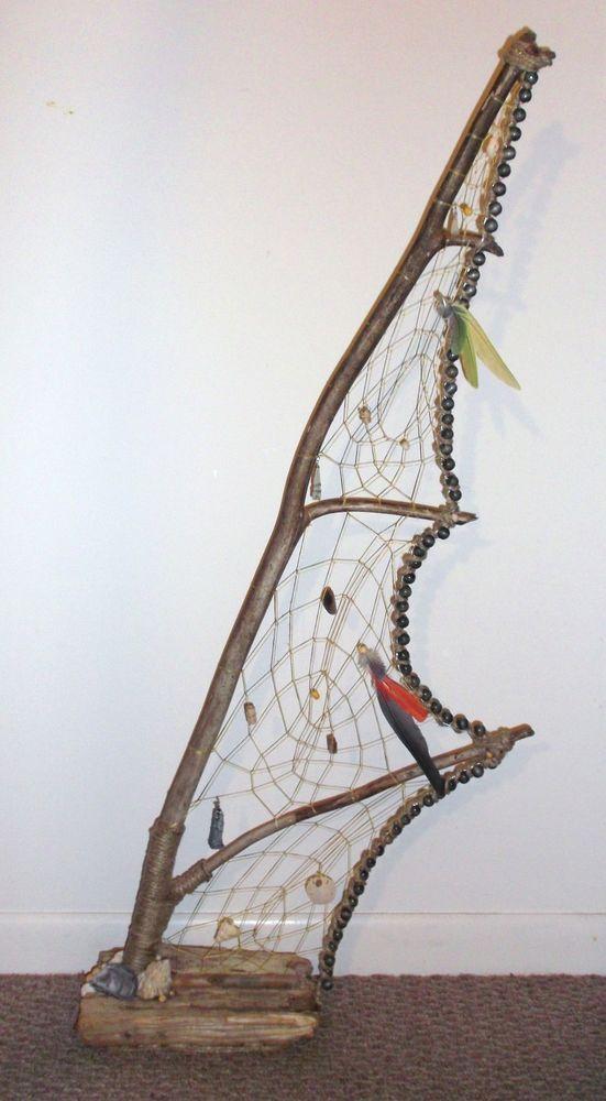 Unique Maine Driftwood Sea Glass Table Top / Floor Sculpture Dream Catcher *Sail  http://cgi.ebay.com/ws/eBayISAPI.dll?ViewItem&item=281271046590&ssPageName=STRK:MESE:IT