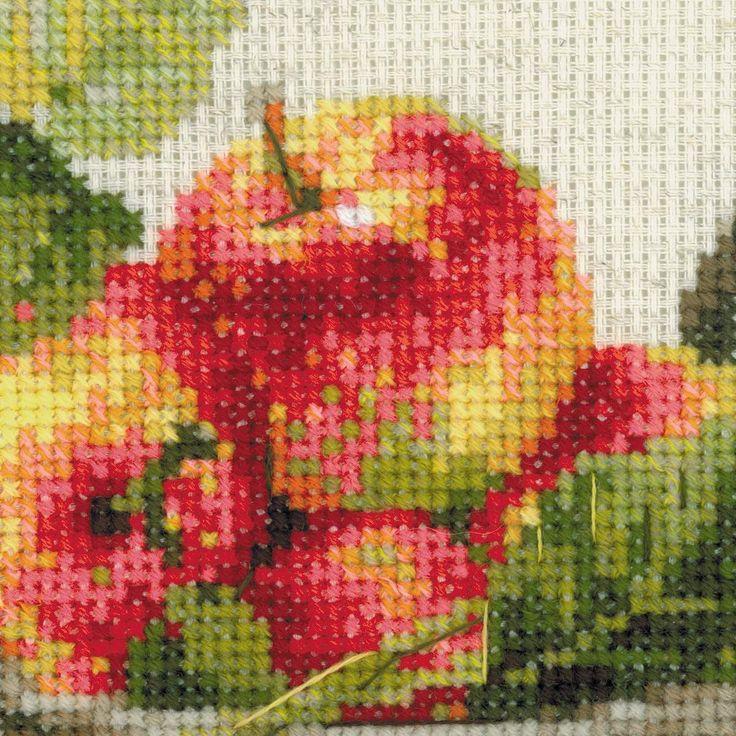 Набор для вышивания крестом «Спелые яблоки» (1450) | Натюрморты | Купить наборы для вышивания по доступным ценам в интернет-магазине РИОЛИС