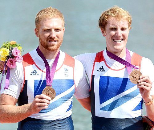 Team GB Medals 2012  14. Williams Satch and George Nash - BRONZE  (Rowing: Men's Pair)