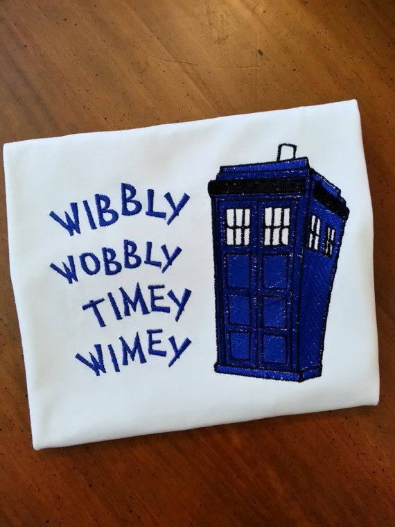 Doctor Who TARDIS Shirt Wibbly Wobbly Timey by GumballsOnline, $24.95