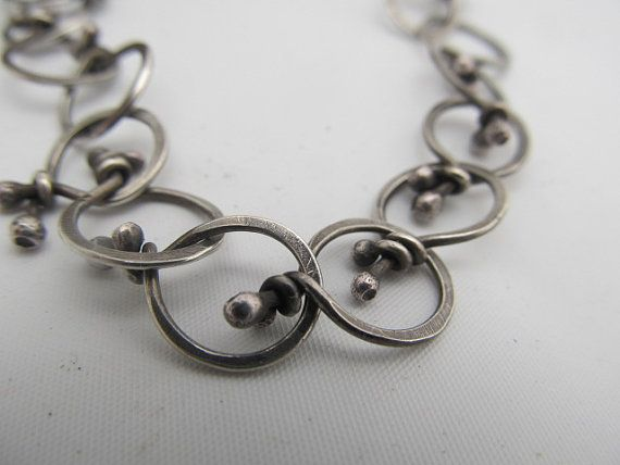 Funky link bracelet hand fabricated by JoDeneMoneuseJewelry