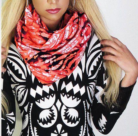 Flamingo Tie Dye Infinity Scarf / Shawl  #sirenbylkc #lkccollection #scarf #dress #handmade #womens #fashion #infinity