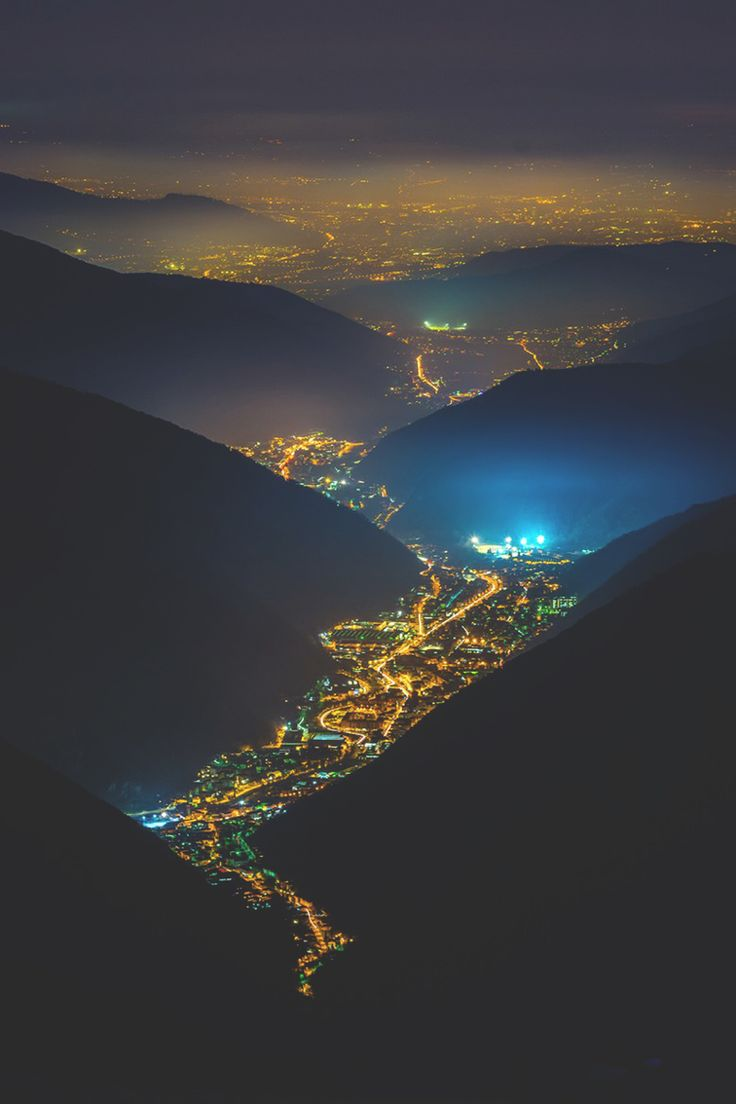 Reminds me of the view from the La Paz Airport.... looking at the city lights from the mountain above... like your floating above stars :)
