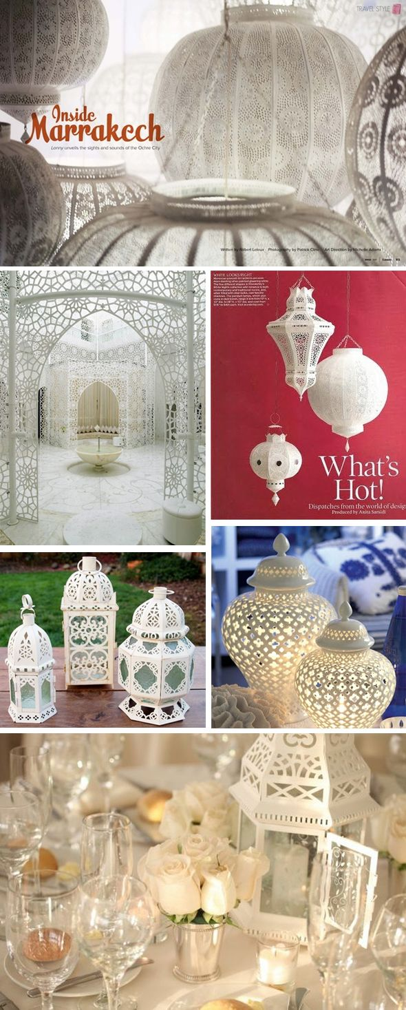 Lovely lanterns! I even like the centerpiece setups in the bottom pic (not necessarily roses though.)