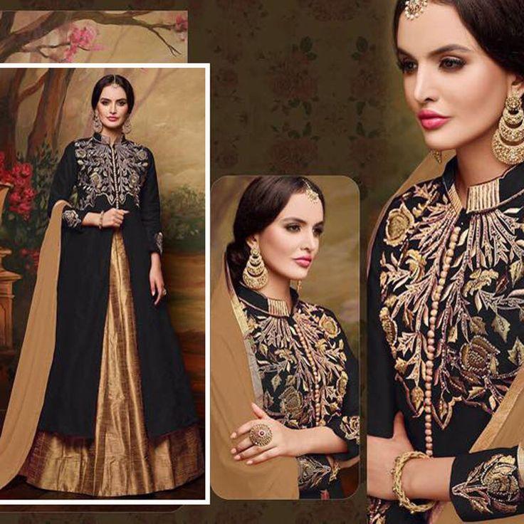indian pakistani bollywood designer wedding party ethnic anarkali salwar lehenga #Indian #AnarkaliLehenga