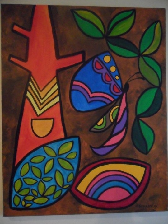 butterfly and the rubber tree