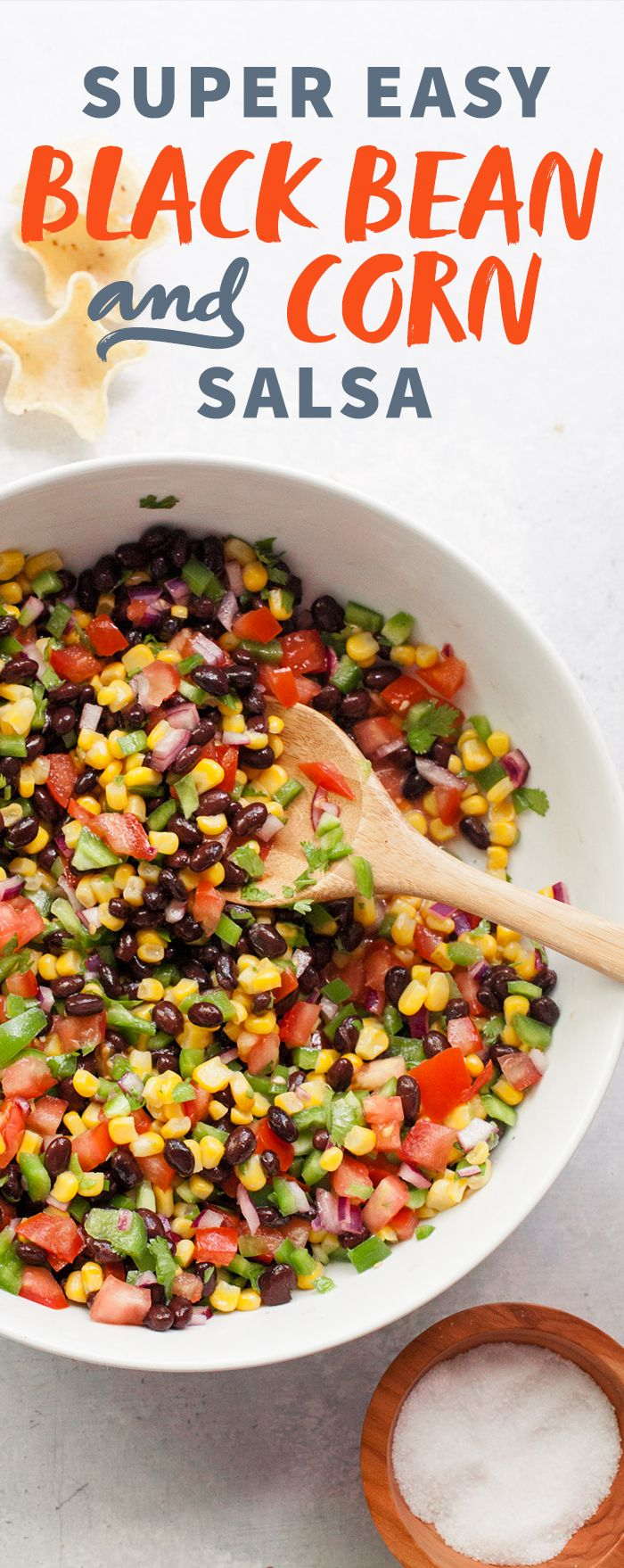 Black Bean and Corn Salsa Recipe: perfect healthy snack, lunch, appetizer or as a light dinner option!