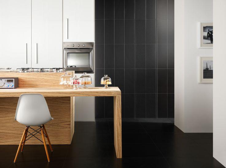 #Black&White | #ceramic #tiles for #kitchen | #Marazzi
